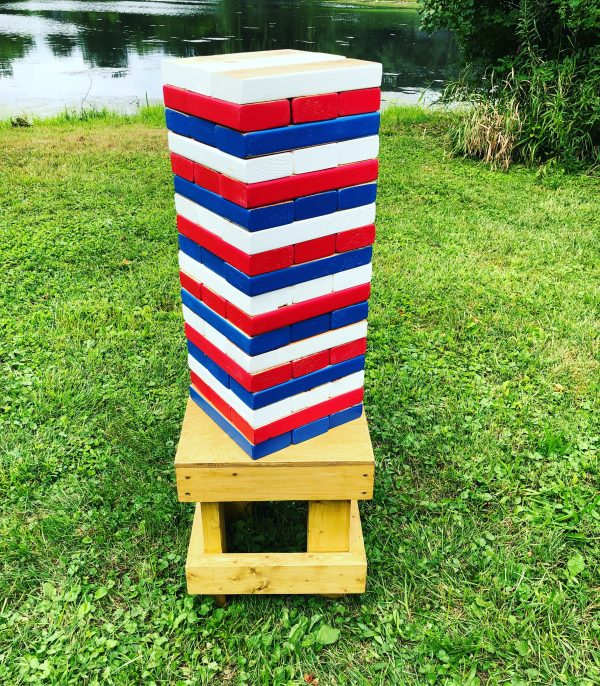 Giant Jenga - Chicago Cubs - Chicagoland Event Rentals - Wheaton - www.ChicagolandEventRentals.com