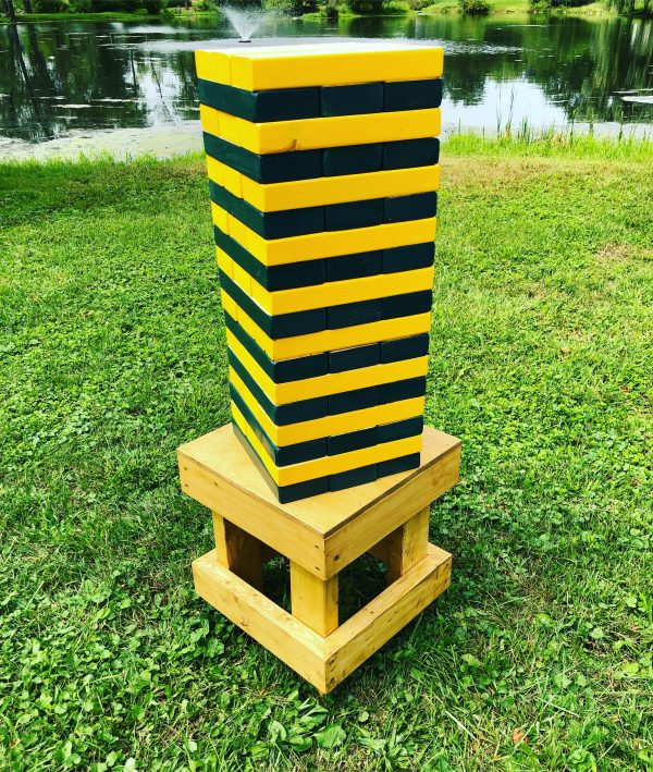 Giant Jenga - Green Bay Packers - Chicagoland Event Rentals - Wheaton - www.ChicagolandEventRentals.com