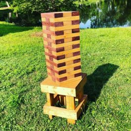 Giant Jenga - Mahogany - Pic 1 - Chicagoland Event Rentals - Wheaton - www.ChicagolandEventRentals.com