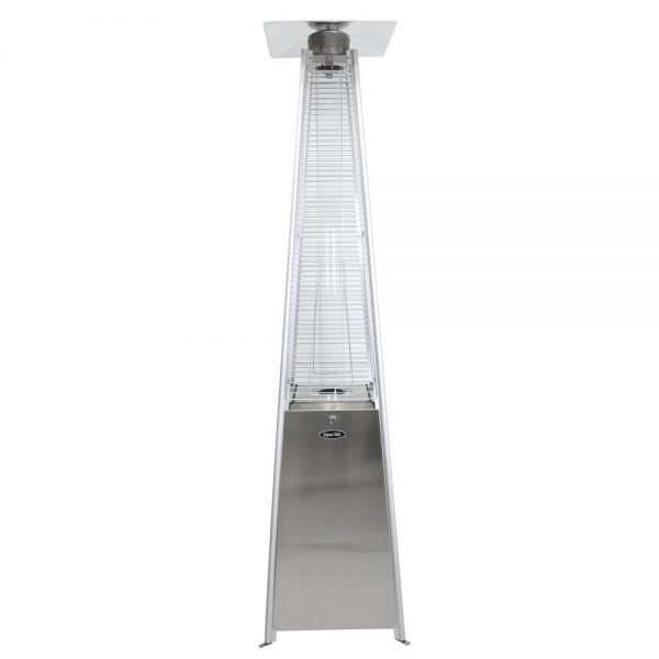 Patio Heater - Stainless Steel Pyramid Flame Gas - 42,000 BTU - Pic 1 - Chicagoland Event Rentals - Wheaton
