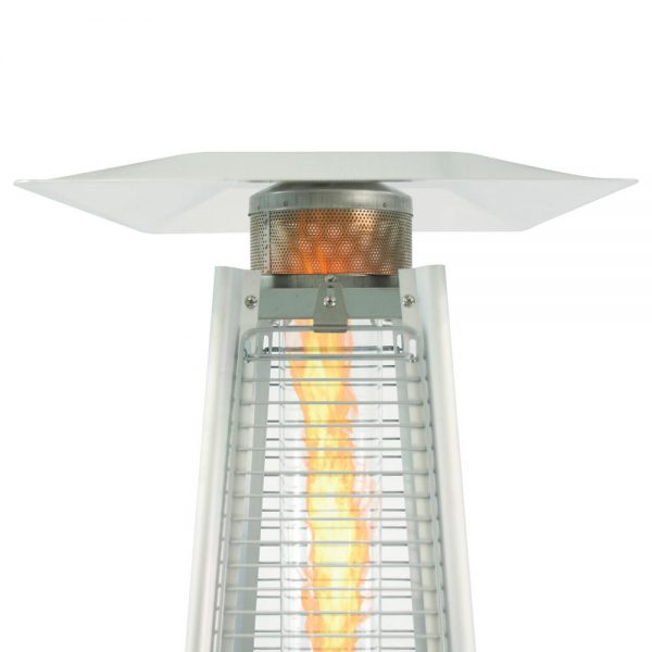 Patio Heater - Stainless Steel Pyramid Flame Gas - 42,000 BTU - Pic 3 - Chicagoland Event Rentals