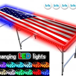 Professional Beer Pong Table w LED Glow Lights - USA Edition - Pic 1 - Chicagoland Event Rentals Wheaton