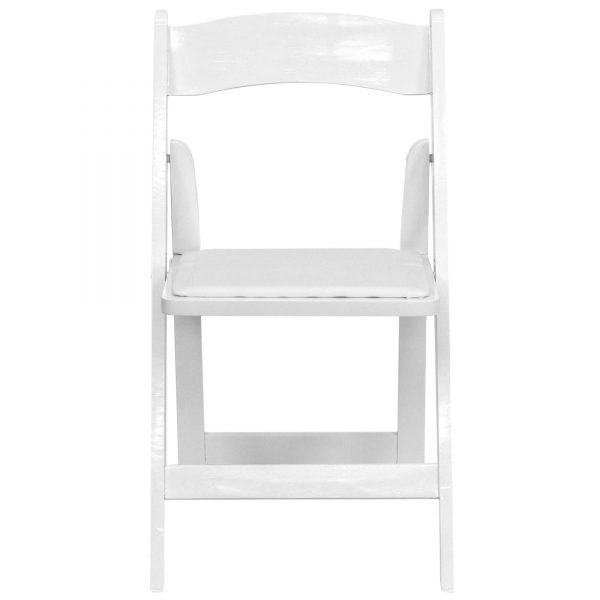 Wood folding chairs white